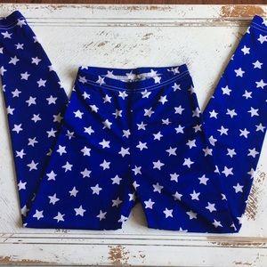 American Apparel star leggings